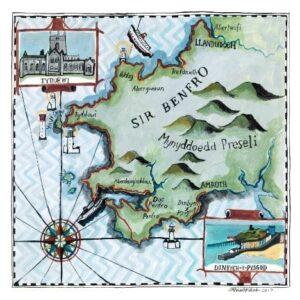 Pembrokeshire map