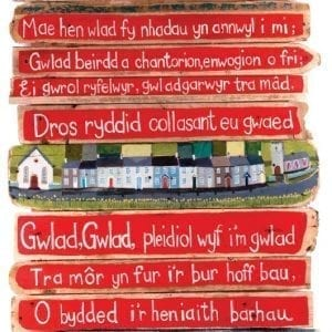 Welsh Anthem on driftwood